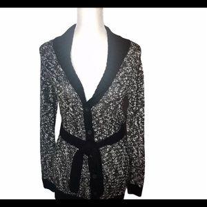 Cherokee black and white sweater cardigan